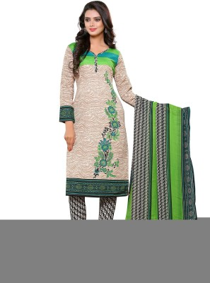Dealsure Cotton Printed Salwar Suit Dupatta Material, Dress/Top Material