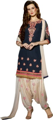 Raagvi Georgette Embroidered Salwar Suit Dupatta Material