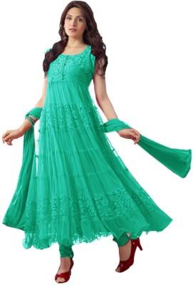 Deekay cloth house Net Embroidered Salwar Suit Dupatta Material