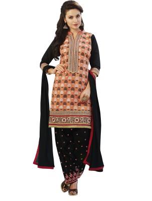Kvsfab Chanderi Printed Salwar Suit Dupatta Material(Un-stitched) at flipkart