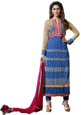 Aromas Georgette, Chiffon Embroidered Salwar Suit Dupatta Material