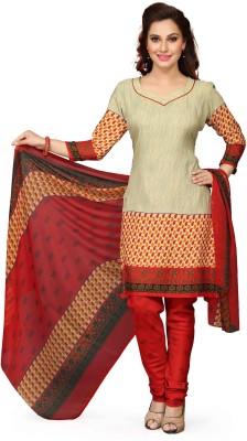 MF Retail Cotton Silk Blend Printed Salwar Suit Dupatta Material