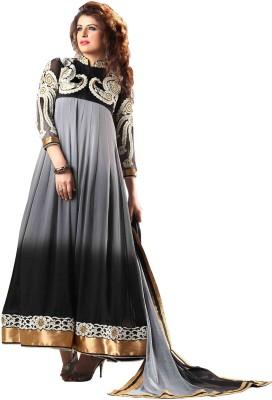 Nazaquat Georgette Floral Print Semi-stitched Salwar Suit Dupatta Material