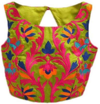 Kmozi Silk Embroidered Blouse Material