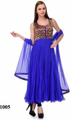 Shreeji Fashion Net Self Design Semi-stitched Salwar Suit Dupatta Material