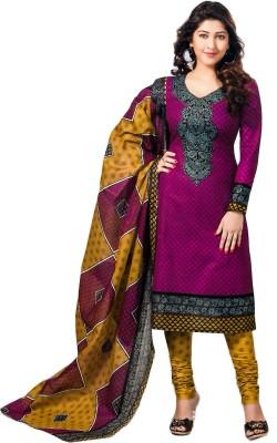Jevi Prints Cotton Geometric Print Salwar Suit Dupatta Material