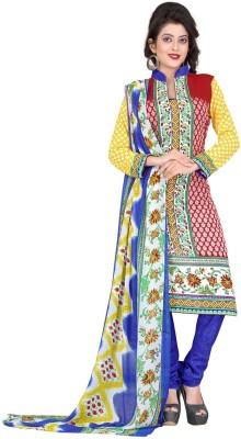 Krizel Trendz Crepe Printed Salwar Suit Dupatta Material