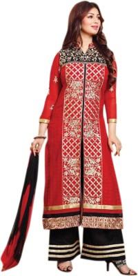 PramukhClothing Cotton Embroidered Salwar Suit Material