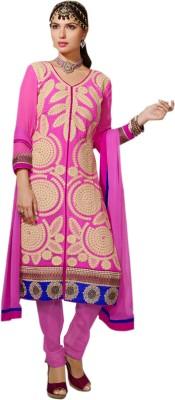 B3 Fashion Georgette Solid Semi-stitched Salwar Suit Dupatta Material