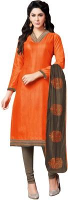 Inddus Silk Printed Salwar Suit Dupatta Material