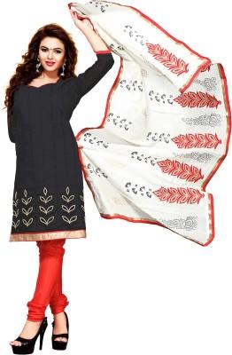 Melluha Fashion Chanderi Embroidered Salwar Suit Dupatta Material