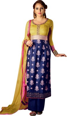 Vastrangsarees Cotton Silk Blend Embroidered Salwar Suit Dupatta Material