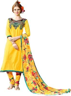 Online Fashion Marts Cotton Embroidered Salwar Suit Dupatta Material