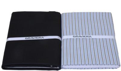 Graviera Cotton Polyester Blend Striped Shirt & Trouser Fabric