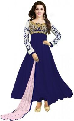 Suchi Fashion Georgette Embroidered Semi-stitched Salwar Suit Dupatta Material