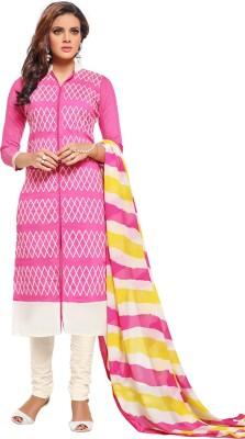 Belletouch Chanderi, Silk Embroidered Salwar Suit Dupatta Material