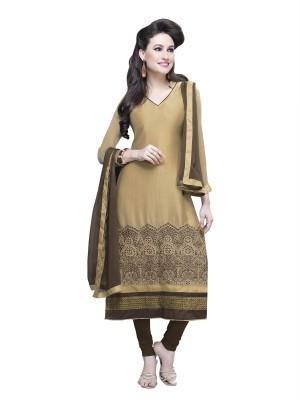 Suvastram Chanderi, Chiffon Self Design Salwar Suit Dupatta Material