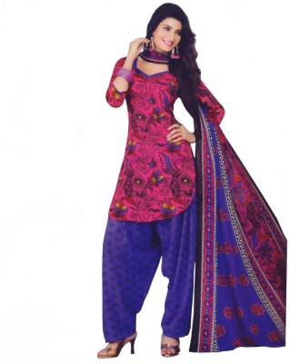 Vishnu International Crepe Printed Salwar Suit Dupatta Material