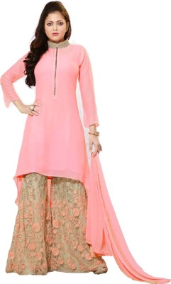 Miss Ethnic Georgette Embroidered Salwar Suit Dupatta Material