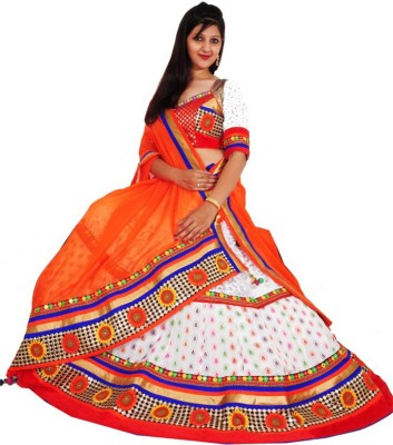 Venu Priya Cotton Embroidered Semi-stitched Lehenga Choli Material