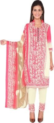Nazaquat Cotton Polyester Blend Printed Salwar Suit Dupatta Material