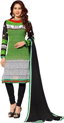 Krizel Trendz Georgette Embroidered Dress/Top Material