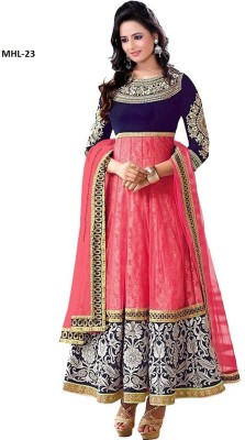 UMA TRADERS Net Self Design Semi-stitched Salwar Suit Dupatta Material