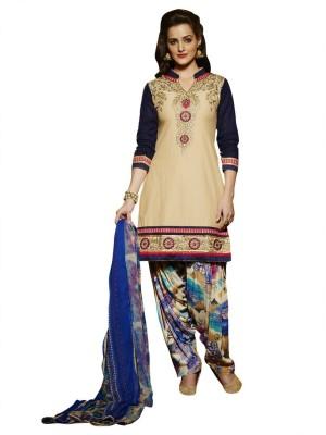Shree Vardhman Cotton Houndstooth Semi-stitched Salwar Suit Dupatta Material