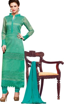 The Four Hundred Chiffon Embroidered Semi-stitched Salwar Suit Dupatta Material
