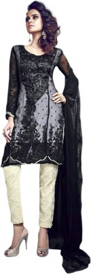 Princess Creations Cotton Polyester Blend Printed Salwar Suit Dupatta Material