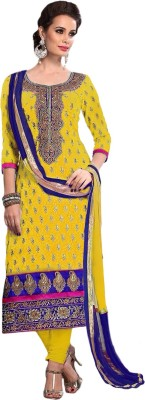 Li Te Ra Chanderi Embroidered Salwar Suit Dupatta Material