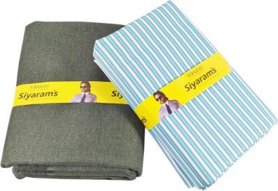 Siyarams Polyester, Viscose Striped Shirt & Trouser Fabric