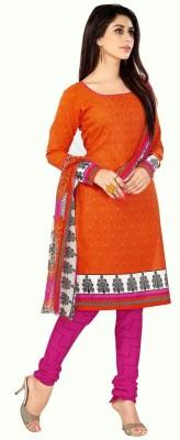 Krizel Trendz Cotton Printed Salwar Suit Dupatta Material