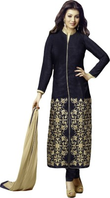 Typify Chanderi Embroidered Semi-stitched Salwar Suit Dupatta Material