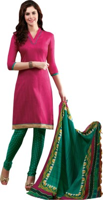 Inddus Silk Embroidered Salwar Suit Dupatta Material