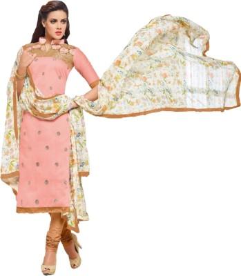 Trendin Stylers Chanderi Self Design Salwar Suit Dupatta Material