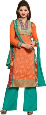 De Marca Net, Georgette Embroidered Salwar Suit Dupatta Material