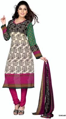 Variation Crepe Floral Print Salwar Suit Dupatta Material