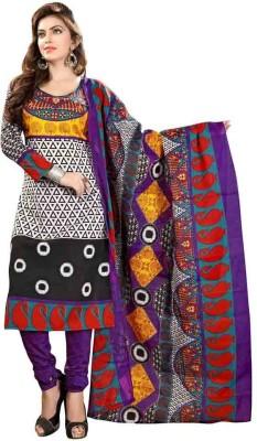 archon ecommerce Cotton Graphic Print Salwar Suit Dupatta Material