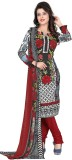 Khushali Crepe Self Design, Printed Salw...