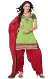 Kvsfab Chanderi Embellished, Solid Salwa...
