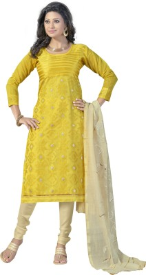 Varanga Chanderi Self Design Salwar Suit Dupatta Material