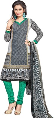 Rooptex Cotton Polyester Blend Printed Salwar Suit Dupatta Material