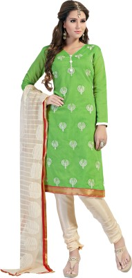 JK apparels Silk Embroidered Salwar Suit Dupatta Material