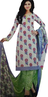 Shubh Style Emb Cotton Printed Salwar Suit Dupatta Material