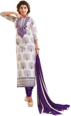 Hypnotex Chanderi Printed Salwar Suit Dupatta Material