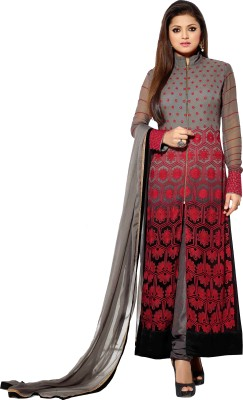 FdeaL Georgette Embroidered Semi-stitched Salwar Suit Dupatta Material