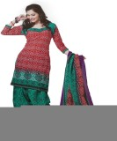 Tresor Silks Synthetic Printed Salwar Su...
