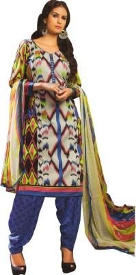Yati Cotton Geometric Print Salwar Suit Dupatta Material