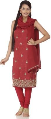 Chhabra 555 Crepe Self Design Salwar Suit Dupatta Material